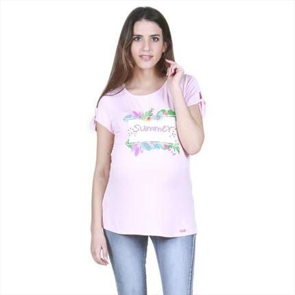 cf736ea6b Camiseta premamá manga corta